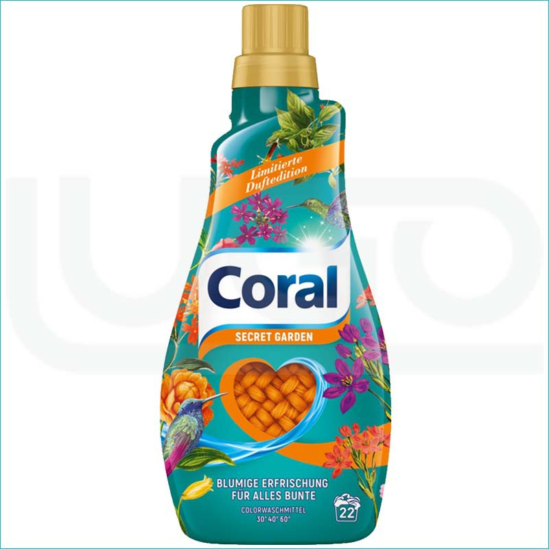 Coral płyn do prania 1,1L/22 Secret Garden
