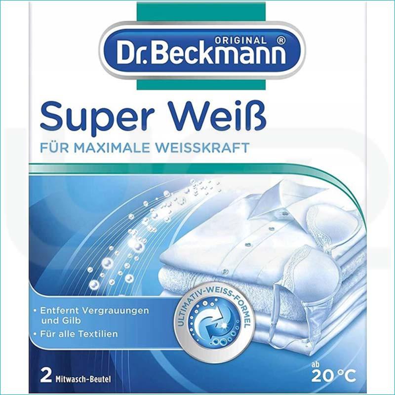 Dr Beckmann super weiss saszetki wybielające 2x40g