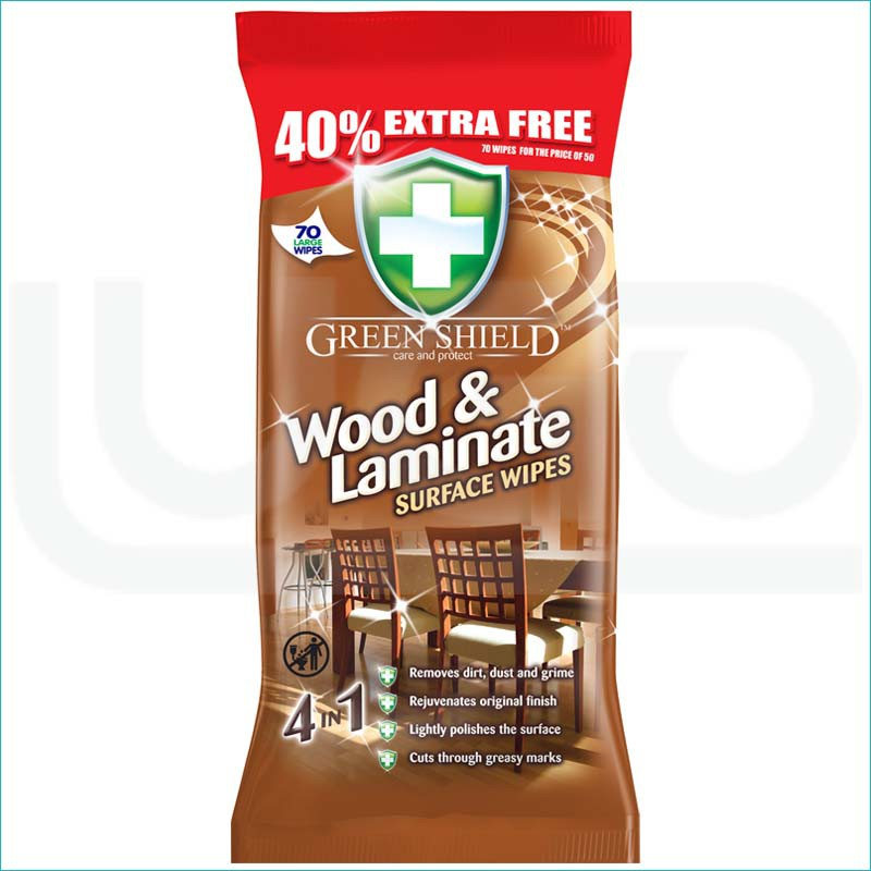 Green Shield chusteczki 70szt / Wood i Laminate