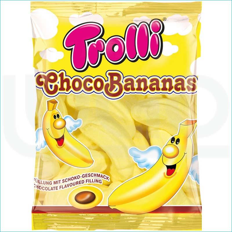 Trolli pianki 150g. Choco Bananas