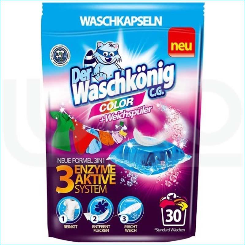 Waschkonig kapsułki do prania 30szt. Color