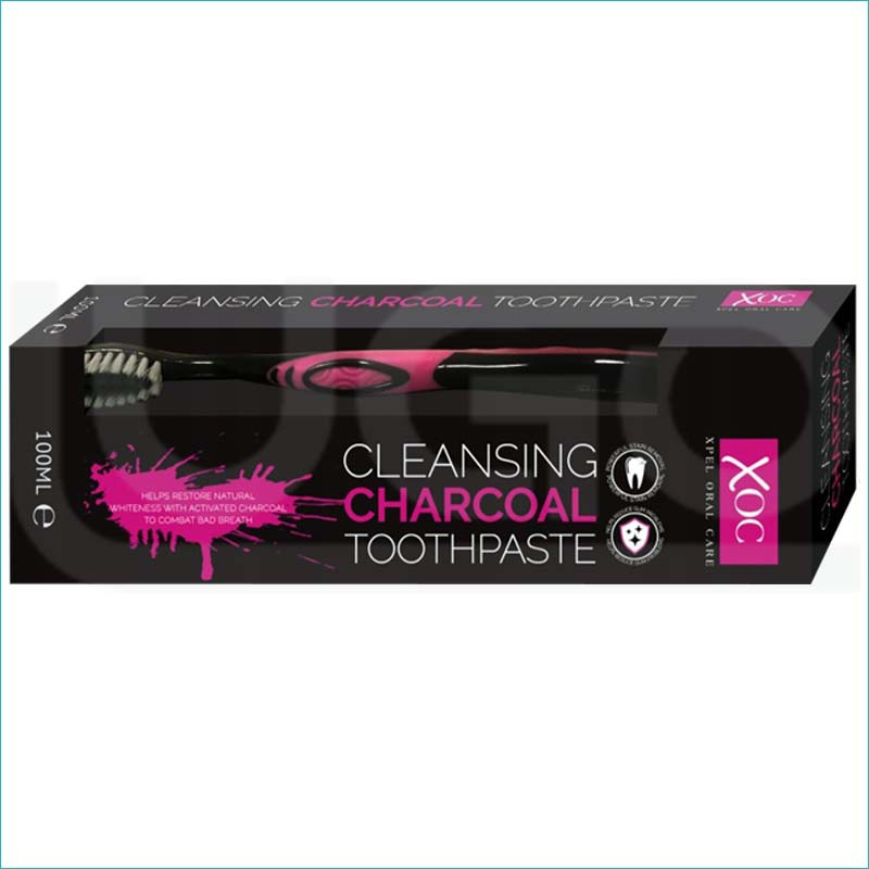 Xoc pasta do zębów z aktywnym węglem 100ml.+szczot