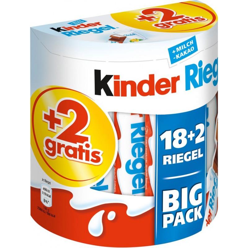 Kinder batoniki czekoladowe 18+2szt.