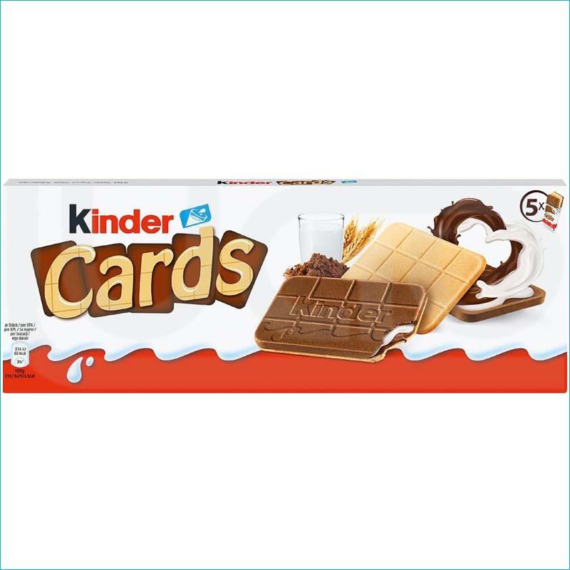 Kinder Cards wafel z nadzieniem 5szt.