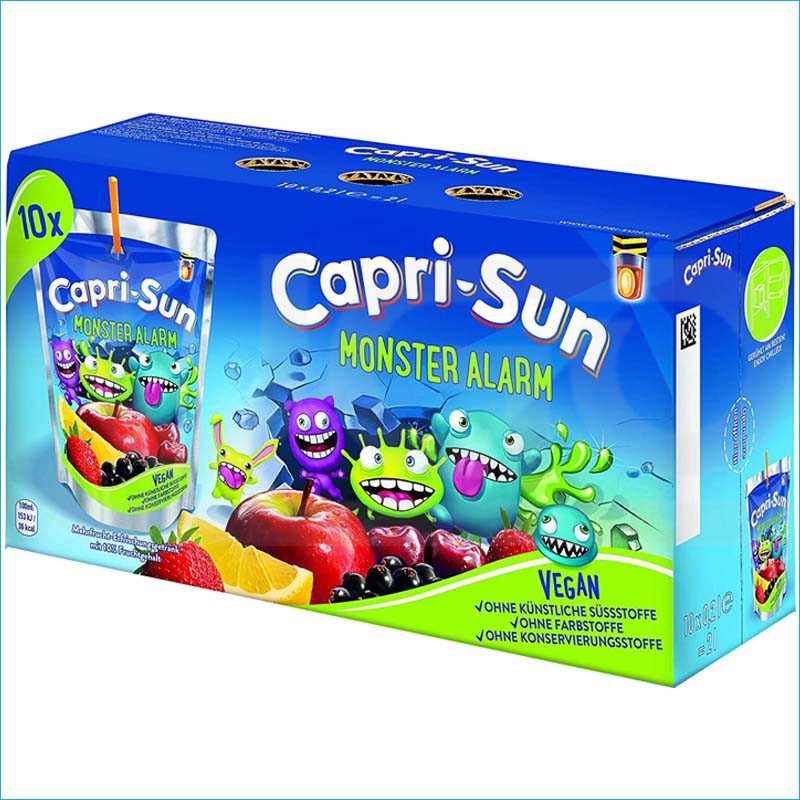 Capri-Sun sok monster alarm 10szt/200ml