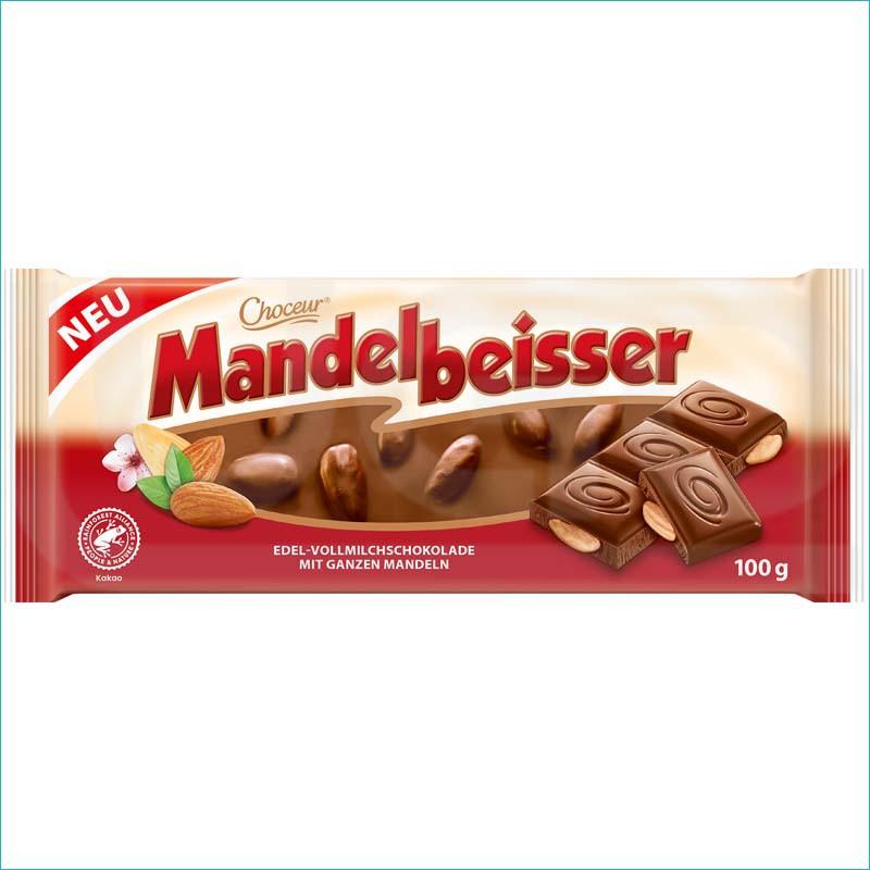 Mandelbeisser czekolada mleczna z migdałami 100g.