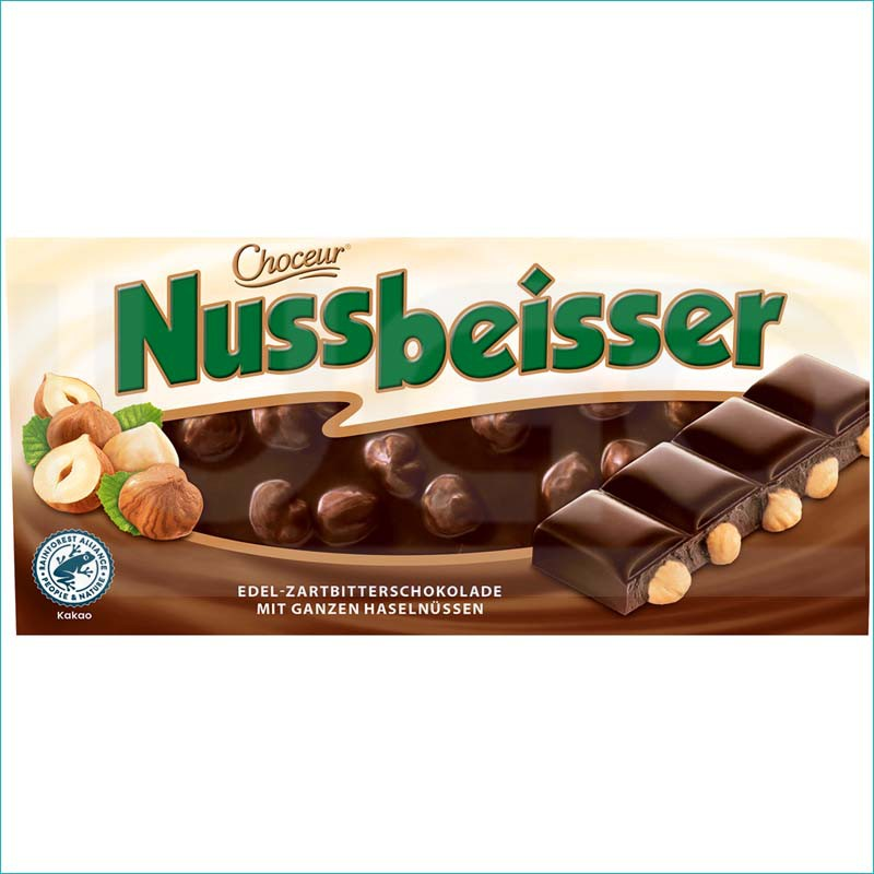 Nussbeisser czekolada gorzka z orzechami 100g.