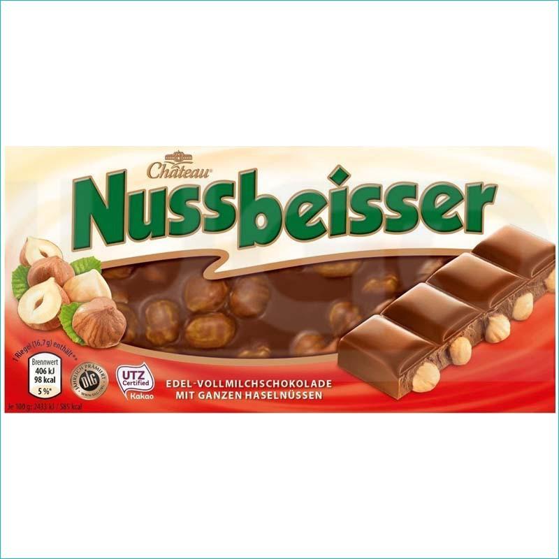 Nussbeisser czekolada mleczna z orzechami 100g.