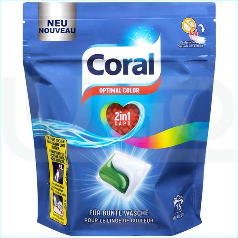 Coral kapsułki do prania 2w1 16szt.