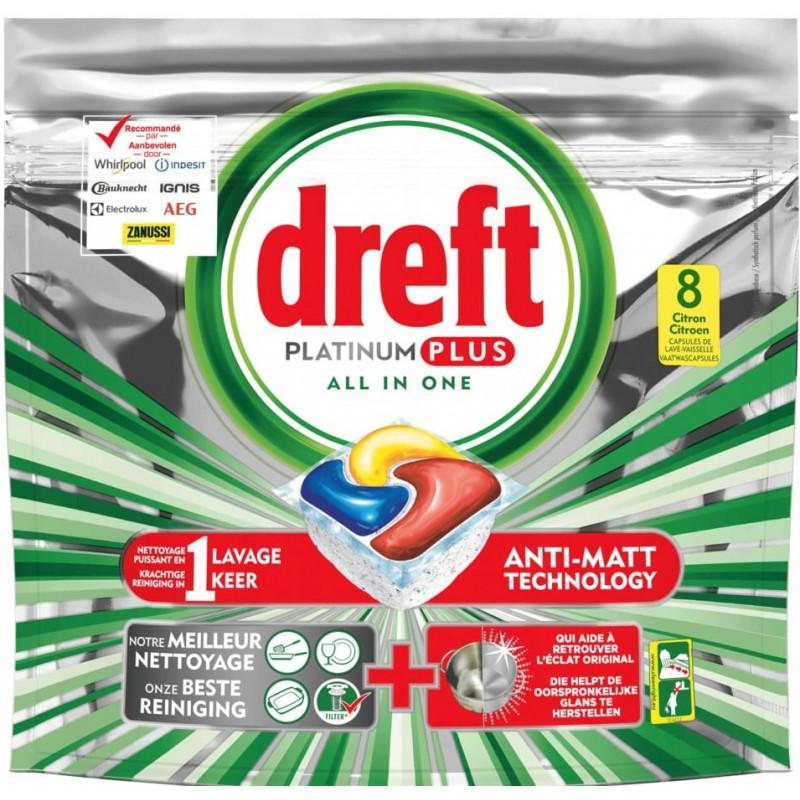 Dreft Platinum Plus kapsułki do zmywarki 8 Citron