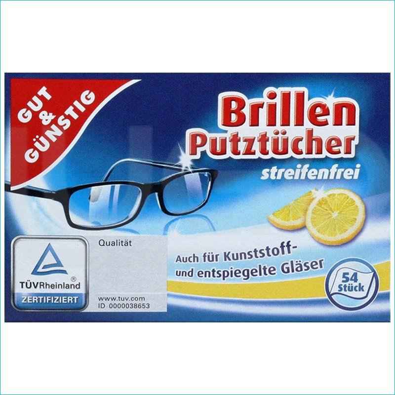 G&G chusteczki do czyszczenia okularów 54szt.