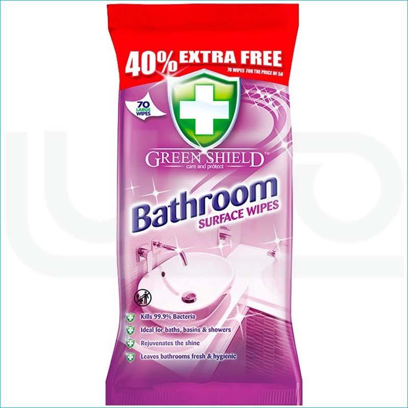 Green Shield chusteczki antybakteryjne 70/Bathroom