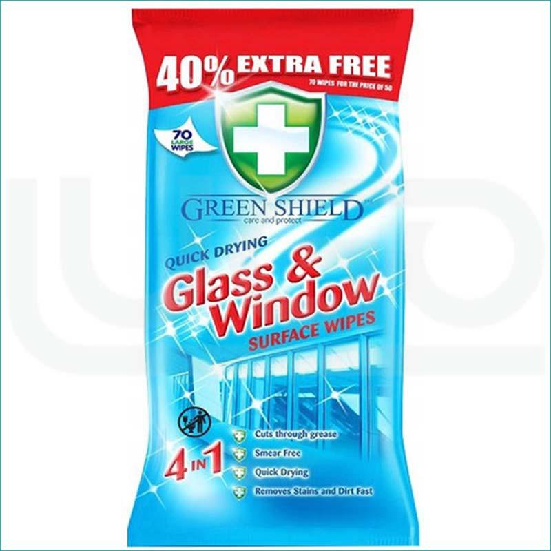 Green Shield chusteczki 70szt / Glass & Window