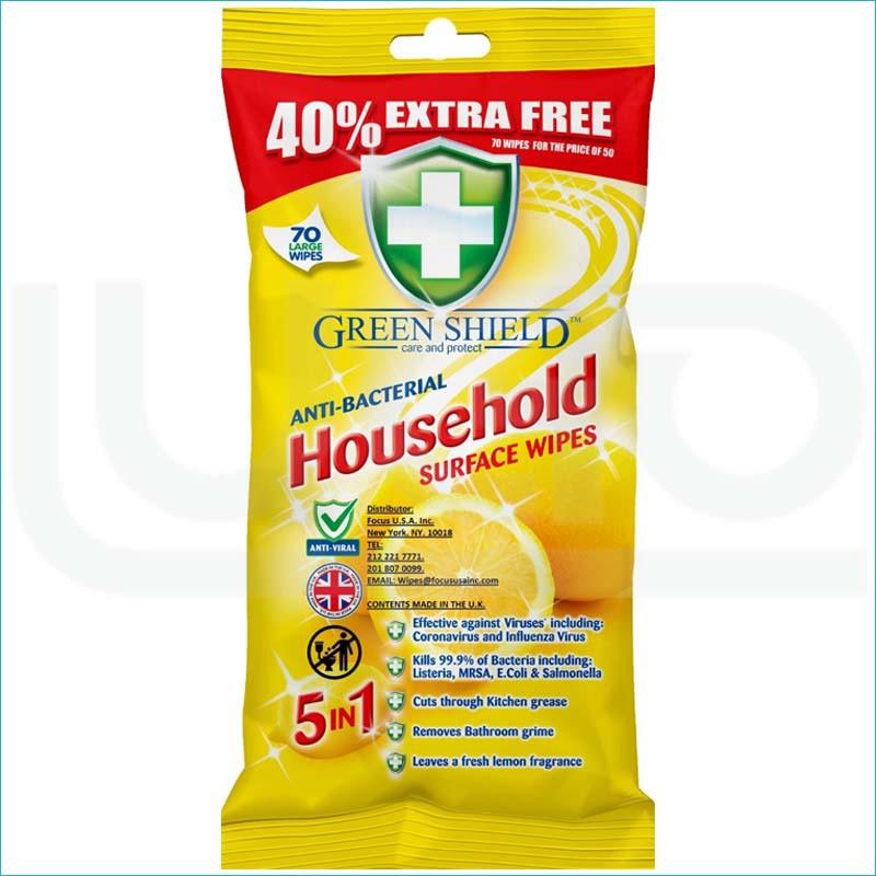 Green Shield chusteczki antybakteryjne 70/House