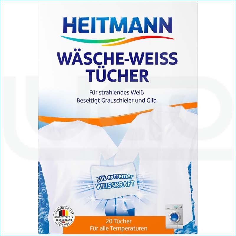 Heitmann chusteczki do białych rzeczy 20szt.