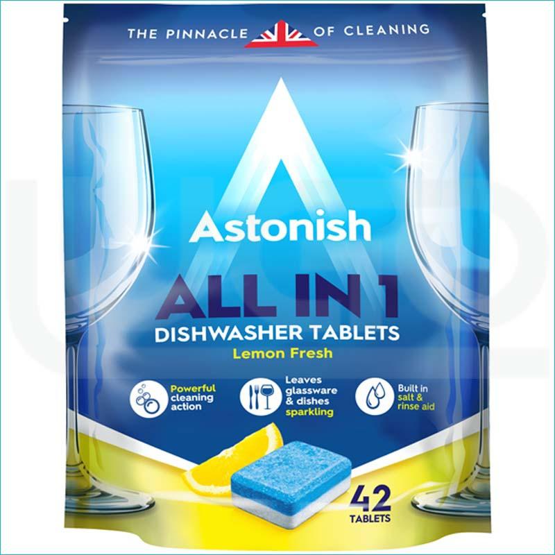 Astonish tabletki do zmywarki All in One 42szt.