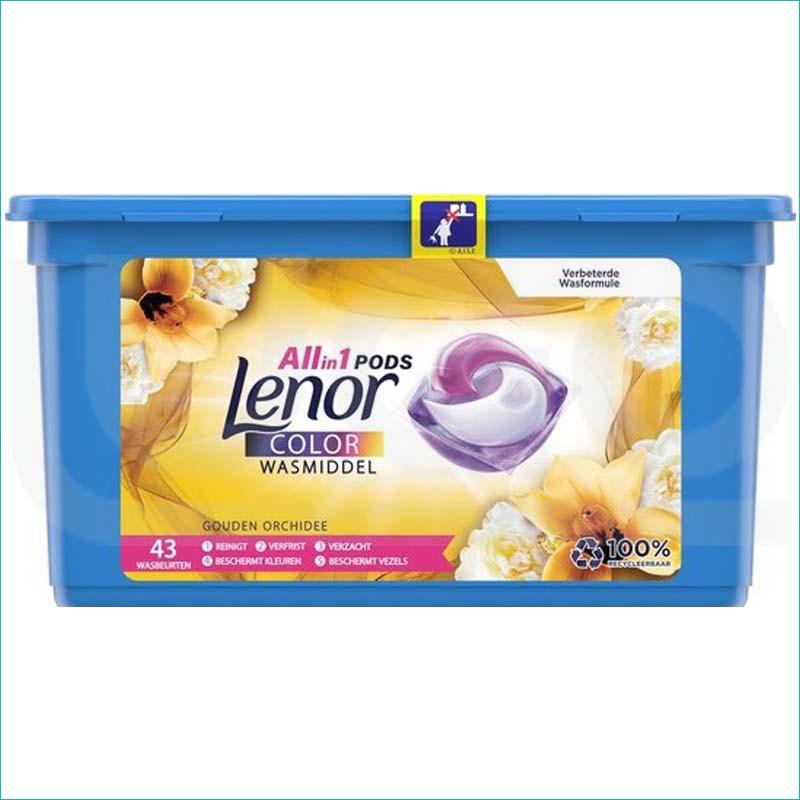 Lenor 3w1 kapsułki do prania 43szt. Color Orchidee